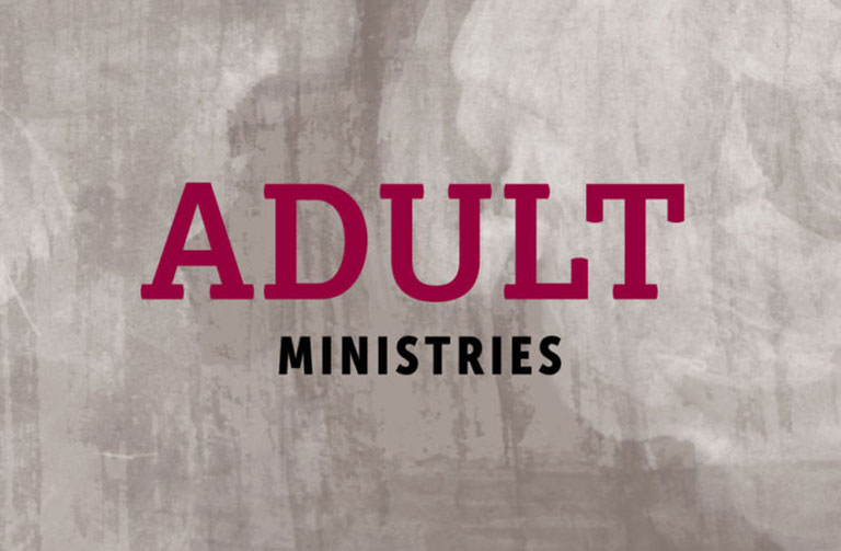 Adult Ministries Banner